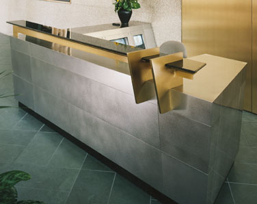 Custom Metal Fabrication Interior Design Reception Desk